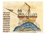 Jonah Eaten by the Whale  from a Hebrew Bible  1299