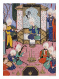 "The Court of the Sultan  Illustration from ""The Divan of Sultan Husayn Bayqara""  circa 1540"