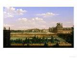 View of the Gardens and Palace of the Tuileries from the Quai D'Orsay  1813