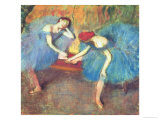 Two Dancers at Rest Or  Dancers in Blue  circa 1898