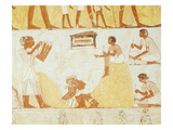 Recording the Harvest  from the Tomb of Menna (Wall Painting)