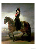Equestrian Portrait of Queen Maria Luisa Wife of King Charles IV of Spain