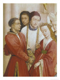 The Seven Sacraments Altarpiece  Detail of the Marriage  from the Right Wing  circa 1445