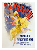 Poster Advertising &quot;Mariani Wine&quot;  a Popular French Tonic Wine  1894