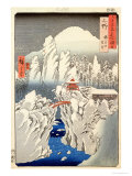 "View of Mount Haruna in the Snow  from ""Famous Views of the 60 Odd Provinces"""