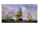 "Combat Between the French Frigate ""La Canonniere"" and the English Vessel ""The Tremendous"""