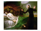 St Francis Borgia Helping a Dying Impenitent  1795