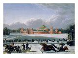 Sleigh Race at the Petrovsky Park in Moscow  1848
