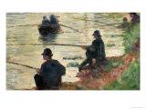 """Anglers  Study for """"La Grande Jatte""""  1883"""