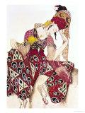 """Costume Design for Nijinsky in the Ballet """"La Peri"""" by Paul Dukas 1911 Giclée par Leon Bakst"""