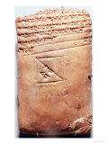 Tablet with Cuneiform Script  circa 1830-1530 BC