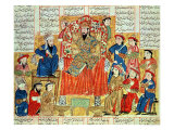 "A Sultan and His Court  Illustration from the ""Shahnama""  by Abu""L-Qasim Manur Firdawsi circa 1330"