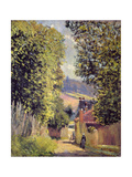 A Road in Louveciennes  1883