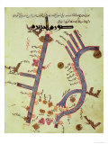 The Tigris and the Euphrates from a Geographical Atlas