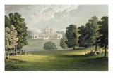 """Stoke Park  from Ackermann's """"Repository of Arts""""  Published circa 1826"""