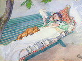 Woman Lying on a Bench  1913