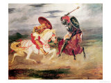 Two Knights Fighting in a Landscape  circa 1824