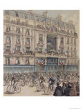"The Start of the Paris-Brest Bicycle Race in Front of the Offices of ""Le Petit Journal"""