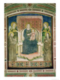 Madonna Enthroned with St Francis of Assisi  St Clare and Two Angels