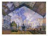 The Gare St Lazare  1877