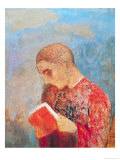 Alsace Or  Monk Reading  circa 1914