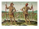 "Inhabitants of Virginia  from ""Admiranda Narratio""  Published by Theodore de Bry"