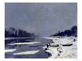Ice on the Seine at Bougival  circa 1864-69