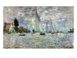 The Boats, or Regatta at Argenteuil, circa 1874 Giclée par Claude Monet