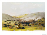 Buffalo Hunt  Surround  circa 1832