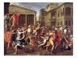 The Rape of the Sabines  circa 1637-38