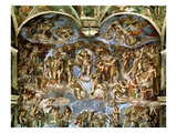 Last Judgement  from the Sistine Chapel  1538-41 (Fresco)