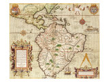 "Map of Central and South America  from ""Americae Tertia Pars""  1562"