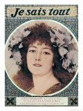 "Sarah Bernhardt in Gismonda by Victorien Sardou Front Cover of ""Je Sais Tout""  15th October 1910"