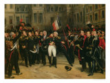 Napoleon I Bidding Farewell to the Imperial Guard in the Cheval-Blanc Courtyard  April 1814  1825