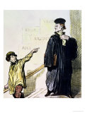 "An Unsatisfied Client  from the Series ""Les Gens de Justice""  circa 1846"