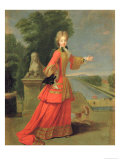 Marie-Adelaide de Savoie in Hunting Dress  circa 1704