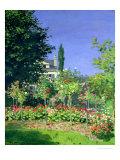 Flowering Garden at Sainte-Adresse  circa 1866