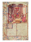 "St Augustine  Epicurus  Zeno  Antiochus and Varron  from ""De Civitae Dei"""
