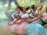 Four Ballerinas on the Stage Giclée par Edgar Degas