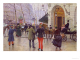 The Boulevard des Capucines and the Vaudeville Theatre  1889