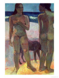 Two Tahitian Women on the Beach  1891