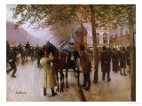 The Boulevards  Evening in Front of the Cafe Napolitain  Late 19th Century