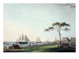 "View Taken on the Esplanade  Calcutta  Plate I from ""Oriental Scenery""  Published 1797"