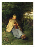 The Knitter Or  the Seated Shepherdess  1858-60