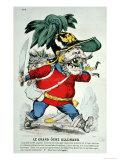 The Giant German Ogre  Caricature of Otto Von Bismarck