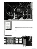 """Interior of a Printing Works and Plan of a Press  Plate from """"Encyclopedia"""" by Denis Diderot"""