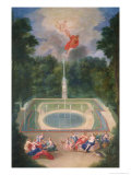 The Groves of Versailles with Mars and Venus Before Apollo and Vulcan  1688