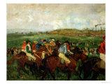 Gentlemen Race Before the Departure  1862