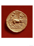 Reverse of a Stater of Philip II of Macedonia Depicting a Charioteer  356-336 BC