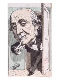 Caricature of Albert  Duc de Broglie